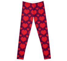 Galaxy Hearts Grunge Style Pattern Leggings