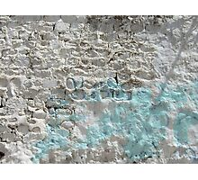 Symbols on the wall (8) - painted wall in Ibb Photographic Print