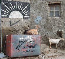 Symbols on the wall (11) - street corner in Taizz by Marjolein Katsma
