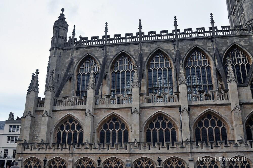 The Side Of Bath Abbey, Bath, UK by James J. Ravenel, III