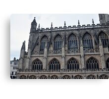 The Side Of Bath Abbey, Bath, UK Canvas Print