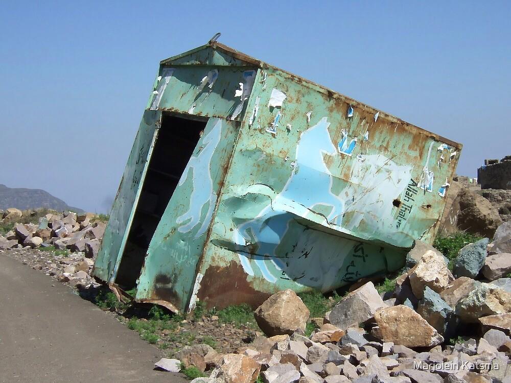 Symbols on the wall (15) - disused shop near Manakhah by Marjolein Katsma