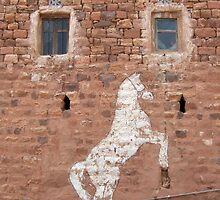 Symbols on the wall (17) - a wall in Kawkaban by Marjolein Katsma