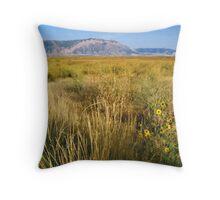 Golden Fields of Bear River Utah Throw Pillow