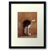 Symbols on the wall (18) - Kawkaban town gate Framed Print