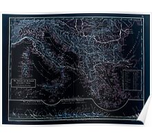 Atlas zu Alex V Humbolt's Cosmos 1851 0165 The Jtalische and Griechishe Peninsula Inverted Poster