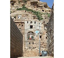 Symbols on the wall (19) - rock dwellings above Shibam Photographic Print