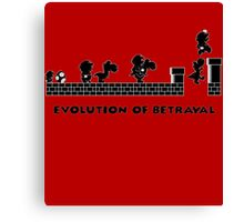 Evolution of Betrayal Canvas Print
