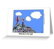 top of the heap Greeting Card