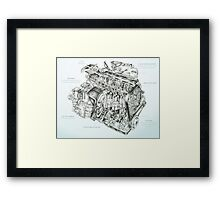 Honda Engine Framed Print
