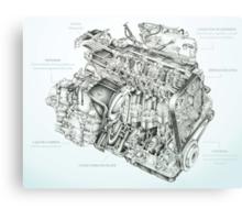 Honda Engine Metal Print