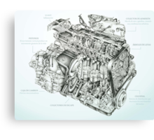 Honda Engine Canvas Print