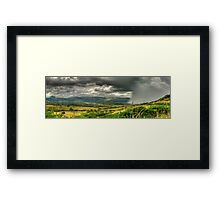 The Calm Before The Storm Panoramic Framed Print