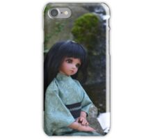 pensive girl by waterfall iPhone Case/Skin