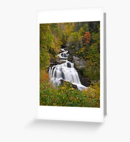 Cullasaja Falls - Autumn Waterfall Greeting Card