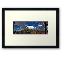 Backyard Panoramic Experience Framed Print