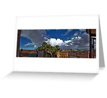 Backyard Panoramic Experience Greeting Card