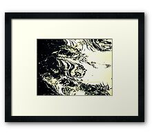 Monster In The Mirror Framed Print