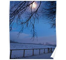 Winter moon, Dalkeith Country Park, Scotland Poster