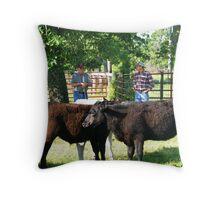 Cattlemen Throw Pillow