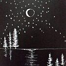 moon at star lake by Kevin McGeeney