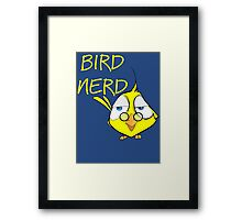 Bird Nerd Funny Ornithology T Shirt Framed Print