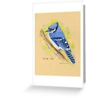 Blue Jay in colored pencil Greeting Card