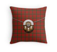 Clan MacDougall Tartan And Sporran Throw Pillow