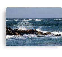 Waves, St Combs beach Aberdeenshire Canvas Print