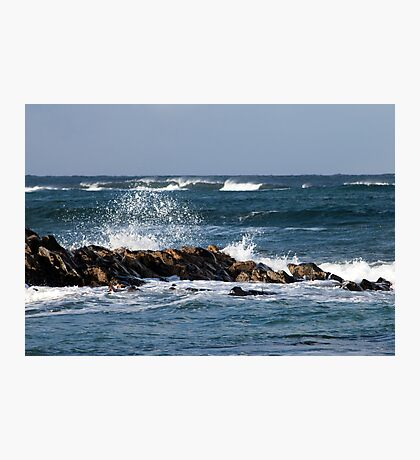 Waves, St Combs beach Aberdeenshire Photographic Print