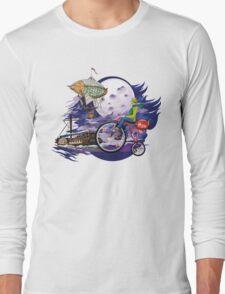 fly to the moon design t-shirt Long Sleeve T-Shirt