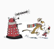 Daleks Calvin and Hobbes Kids Clothes