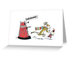 Daleks Calvin and Hobbes Greeting Card