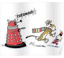 Daleks Calvin and Hobbes Poster