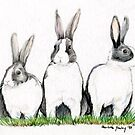 Three Bunnies by Charlotte Yealey