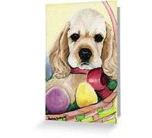Cocker Spaniel Easter Puppy Greeting Card