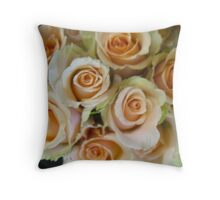 The Soul of a Rose Bouquet Throw Pillow