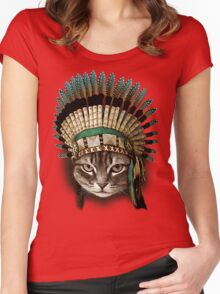 CHIEF CAT Women's Fitted Scoop T-Shirt