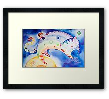 Rainbow Cat! Framed Print