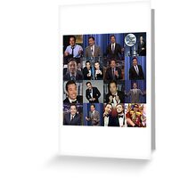 Jimmy Fallon Collage Greeting Card