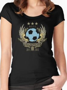 Manchester City Champions Women's Fitted Scoop T-Shirt