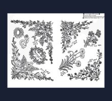 New Sample Book of Our Artistic Perforated Parchment Stamping Patterns Kate Greenaway, John Frederick Ingalls 1886 0038 Baby Tee