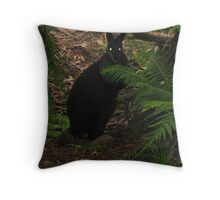 Golden Eyes in the Dark Throw Pillow