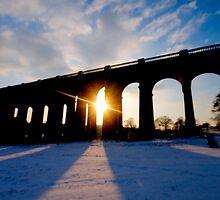 Sunset Behind Balcombe Viaduct by Eddie Howland