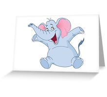 happy elephant design t-shirt Greeting Card