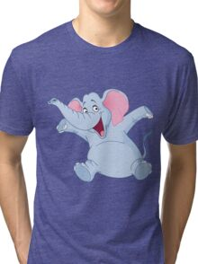 happy elephant design t-shirt Tri-blend T-Shirt