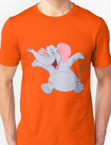 happy elephant design t-shirt T-Shirt