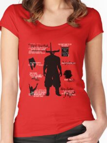 Dragon Age - Iron Bull Quotes Women's Fitted Scoop T-Shirt