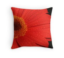 red gerbra Throw Pillow