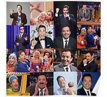 Jimmy Fallon Collage #2 Poster